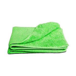 Pano de microfibra 20x20cm verde (pacote c/2un) NOBRE