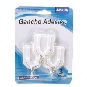 Gancho Adesivo com 3 pecas Javick - 3Kg