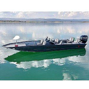 Barco Uai Black Bass 6.0 Pro Expedition  (com comando) p/ motor 30 a 60HP - Casco
