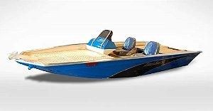 Barco Black Bass MT 5.5 (com comando) Indicação motor 40 a 60HP - Casco