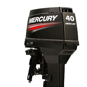 Motor de popa Mercury  40 HP EO 2T Elétrico c/ comando Preço Produtor Rural e PJ