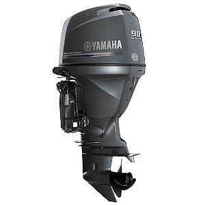 Motor de popa Yamaha F 90 4T CETL - Elétrico com comando Preço especial Produtor Rural e PJ