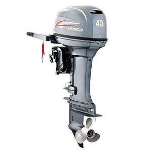 Motor de popa Hidea 40 HP 4T - manual - sem trim - Rab. 15 pol - Aproveite dólar congelado