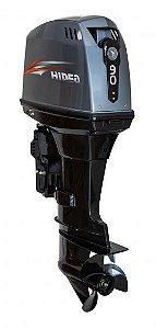 Motor de popa Hidea 90 HP 2T - Comando à distância - Power Trim - Partida Elétrica - Rab. 20 pol. - Produtor Rural ou CNPJ