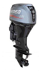 Motor de popa Hidea 40 HP 4T - Comando à distância - Sem Power Trim - Partida Elétrica - Rab. 20 pol.