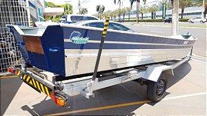 Barco de alumínio Martinelli Tornado 600 + Carreta Rodoviária Viga U - (Frete a consultar)