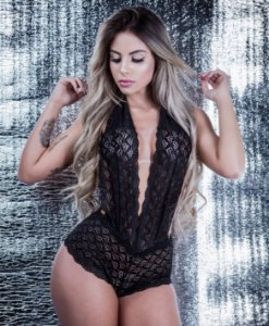 Body Renda Glamour - Preto