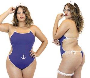 Fantasia Plus Size - Marinheira