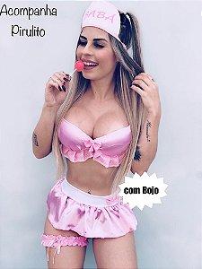 Fantasia Erótica Babá com Bojo - Tamanho Único
