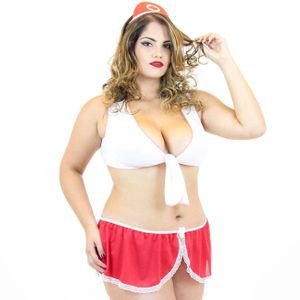 Fantasia Erótica Enfermeira 02 -  Plus Size