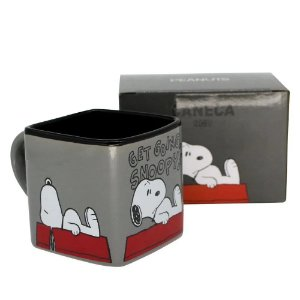 Caneca Cubo 300ML Get Going Snoopy