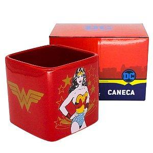 Caneca Cubo 300ML Mulher Maravilha