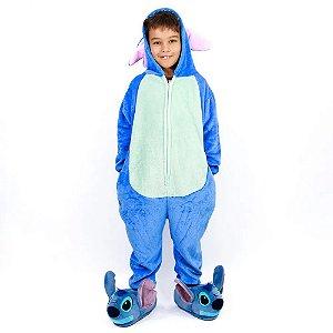 Macacão Kigurumi Infantil Stitch de 3 a 4 anos