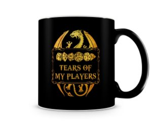 Caneca Dungeons and Dragons Tears Of My Players Black