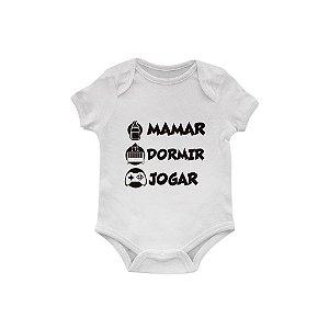 Body Bebê Mamar, dormir e jogar