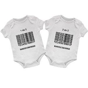 Body Bebê Gêmeos Código de Barras
