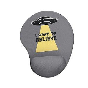 Mouse pad Ergonômico I Want To Believe