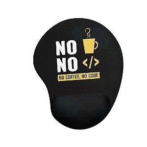 Mouse pad Ergonômico No Coffee No Code