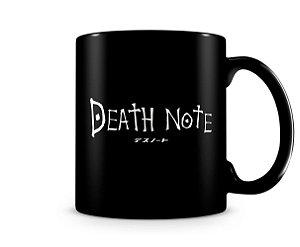 Caneca Death Note Logo Black
