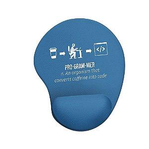 Mouse pad Ergonômico Converter Café em Código