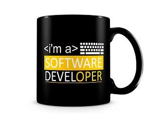 Caneca I'm a Software Developer Black