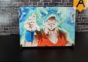 Placa Decorativa de Metal Dragon Ball Goku HD