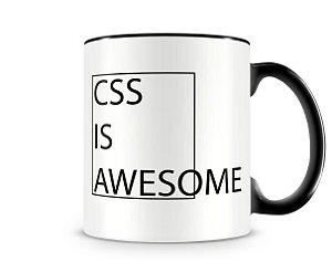 Caneca CSS Is Awesome Preta