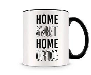 Caneca Home Sweet Office Preta