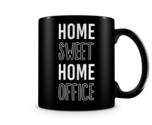 Caneca Home Sweet Office Black