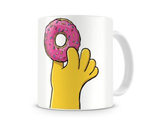 Caneca Os Simpsons Donuts Hand