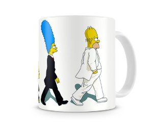 Caneca Os Simpsons Beatles