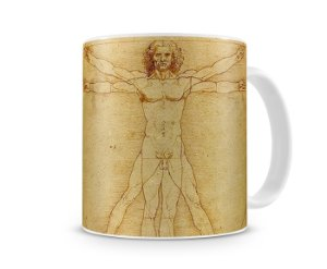 Caneca Uomo Vitruviano  (Leonardo Da Vinci)