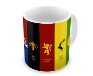 Caneca Game of Thrones - Casas I