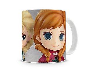 Caneca Frozen - Elsa, Anna e Olaf