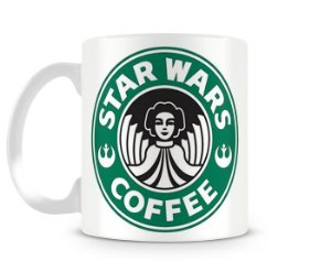 Caneca Star Wars Coffee Leia