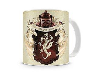 Caneca Game of Thrones Brasão Targaryen