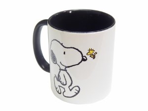 Caneca Snoopy black