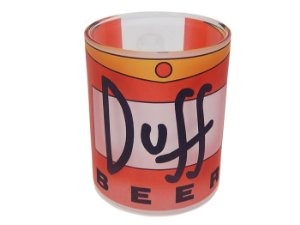 Caneca de vidro Simpsons Duff Beer