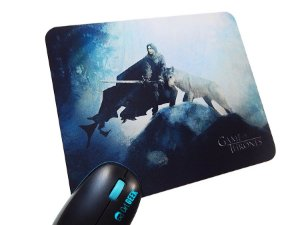 Mousepad Game of Thrones Jon Snow and Wolf