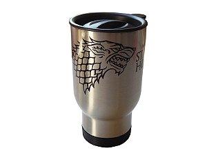 Caneca térmica para carro Game of Thrones Stark