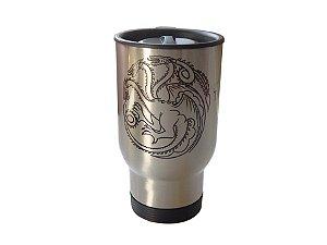 Caneca térmica para carro Game of Thrones Targaryen