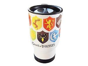 Caneca térmica para carro Game of Thrones Escudos