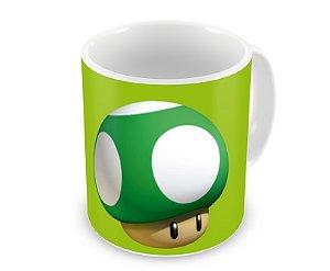 Caneca Mario Bros Cogumelo 1 UP