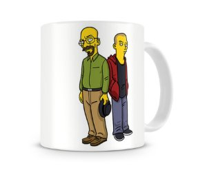 Caneca Breaking Bad Simpsons Walt & Jesse II