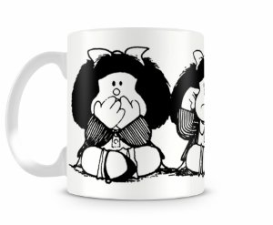 Caneca Mafalda P&B