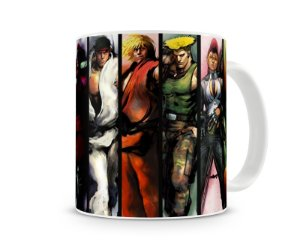 Caneca Street Fighter Personagens