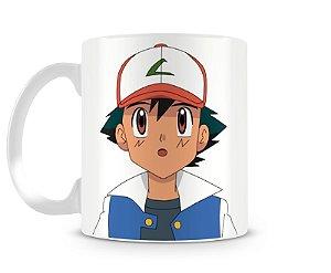 Caneca Pokémon Ash Ketchum