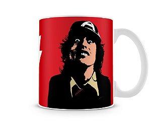 Caneca AC DC Angus Young Desenho