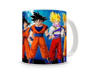 Caneca Dragon Ball Goku Evolution