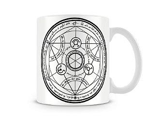 Caneca Fullmetal Alchemist human transmutation circle